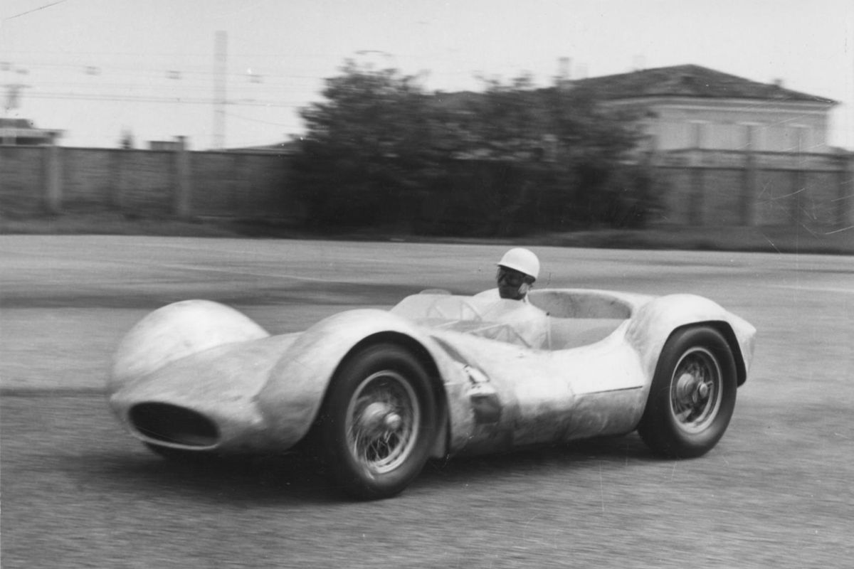 "12 JULY 1959 sees Maserati Tipo 60 ""Birdcage"" debut and win for Stirling Moss"