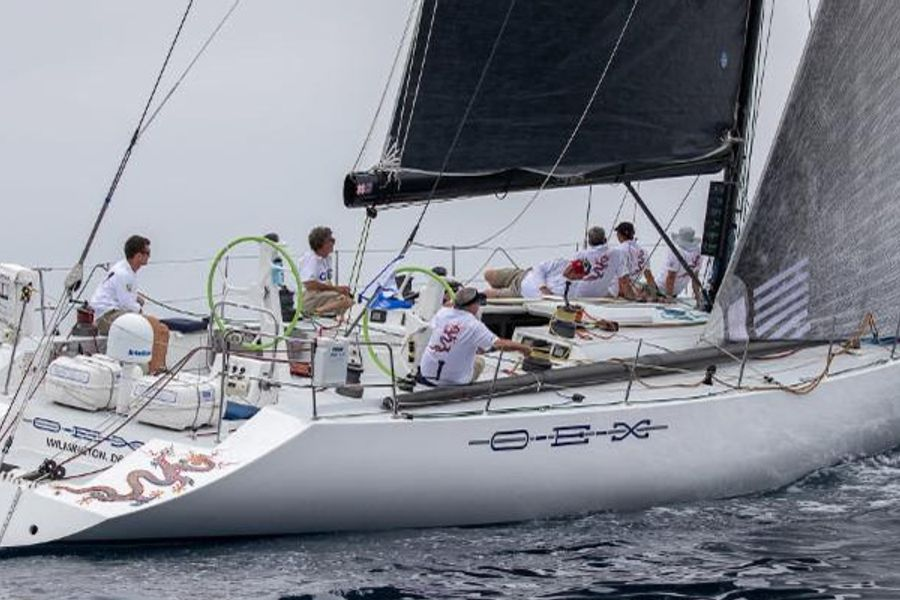 Rescue at sea in Transpac 50 Race
