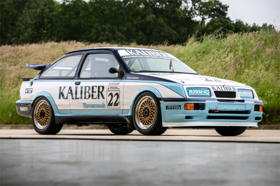 1 of 2 1988 Kaliber liveried Ford Sierras among competition cars up for auction