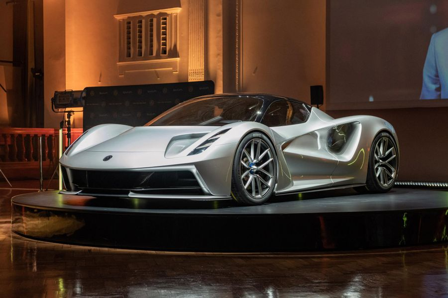 Lotus Evija, the world's first all-electric British hypercar, makes world debut