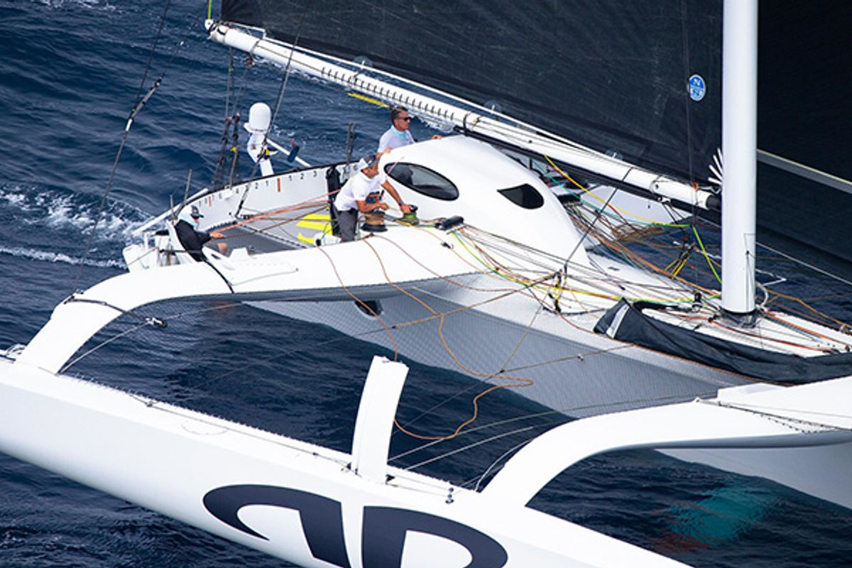 Jason Carroll and the crew of the MOD 70 ARGO first to finish on Transpac Race
