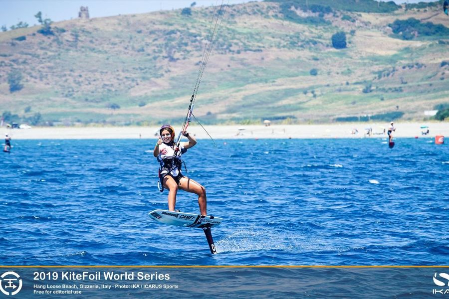 Vodisek Continues Stellar Performance in Italy at Kitefoil World Serie