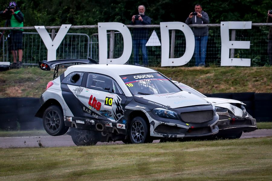Topi Heikkinen and Kevin Hansen share  TitansRX spoils at Lydden Hill