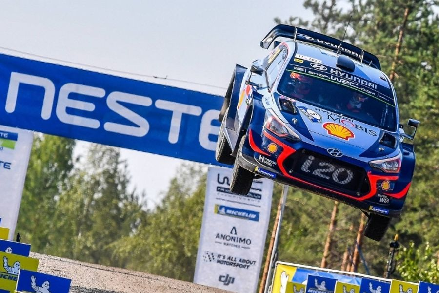 WRC's big three resume thrilling title fight on Rally Finland