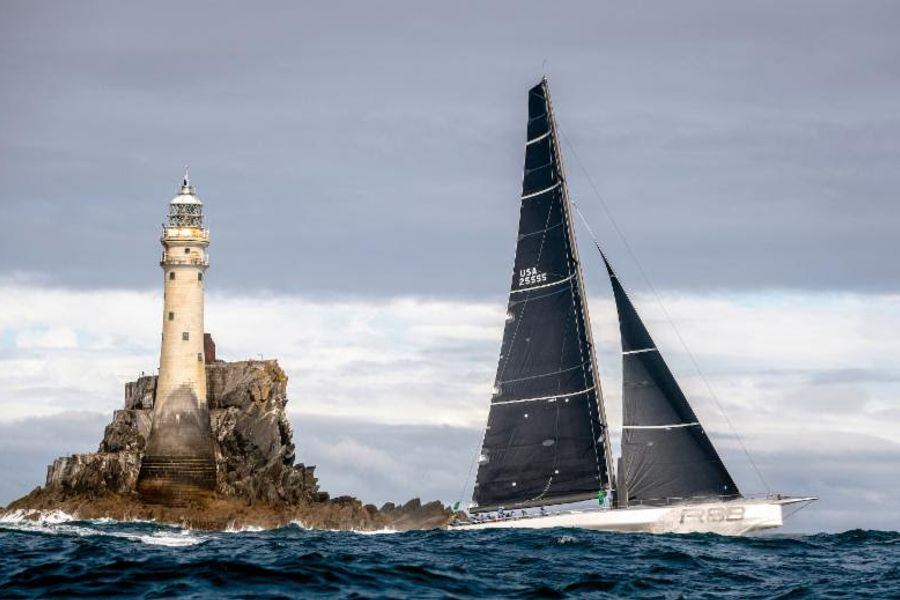 Rambler 88 claims third consecutive Rolex Fastnet Race monohull line honours