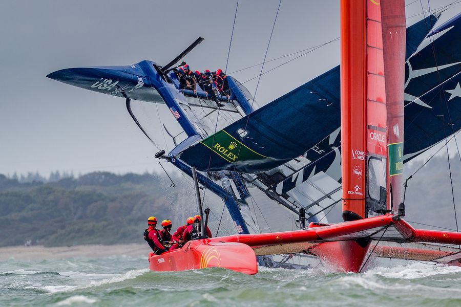 Australia's Tom Slingsby masters extreme conditions at Cowes Sail GP, results