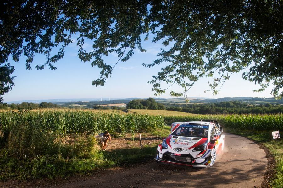 Tänak leads Toyota clean sweep Satuday on Rallye Deutschland