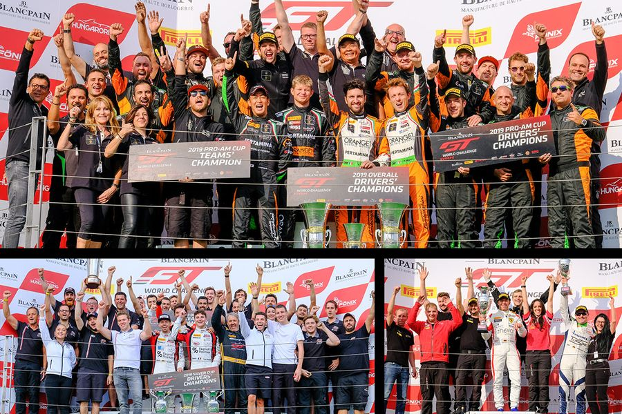 Orange1 FFF Racing Lamborghini duo seal Blancpain GT Europe title