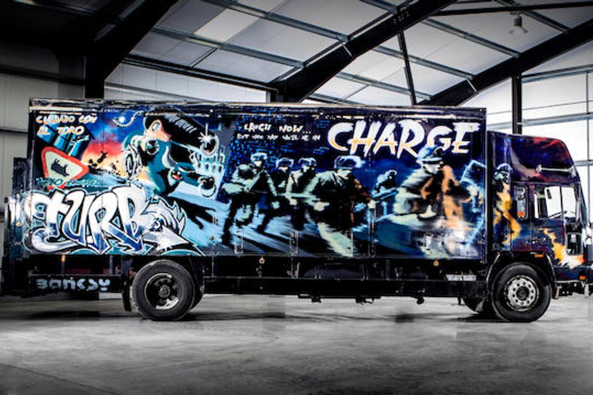 Banksy Turbo Zone Truck at Bonhams Goodwood Revival sale this weekend