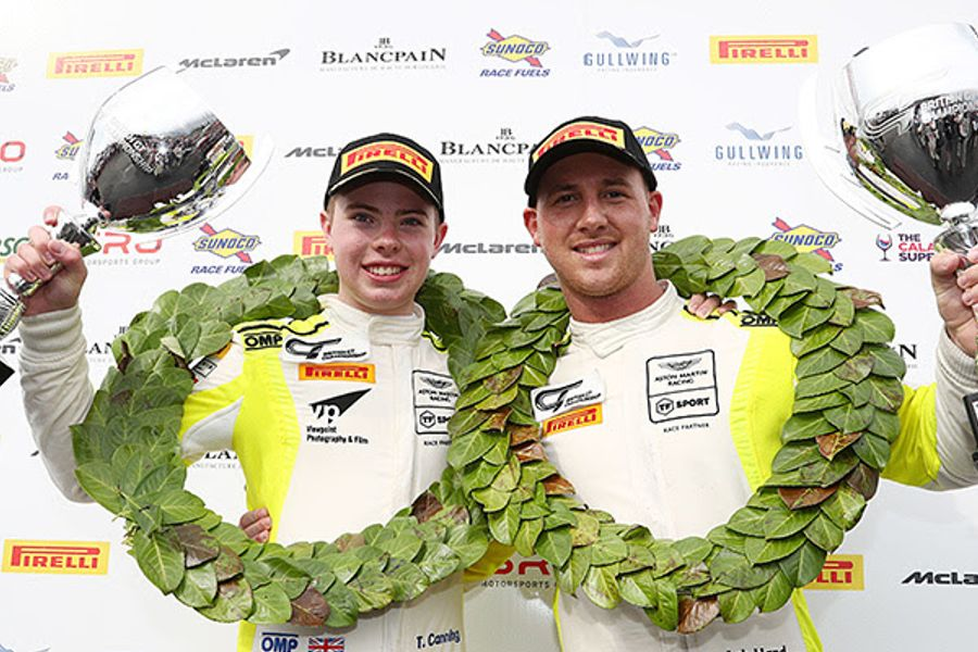 Tom Canning and Ashley Hand clinch the British GT4 title at Donington