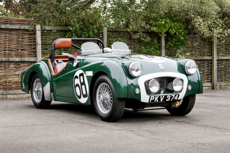 Ex-works 1955 Le Mans Triumph TR2 on offer at  Silverstone Auctions