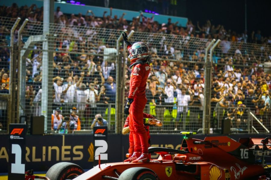 Leclerc claims 5th career F1 pole in Singapore