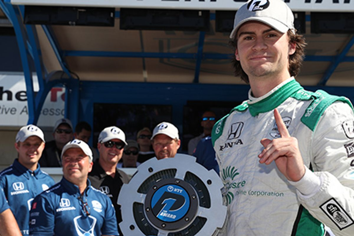 Herta on IRL Monterey pole, as title contenders qualify in top six