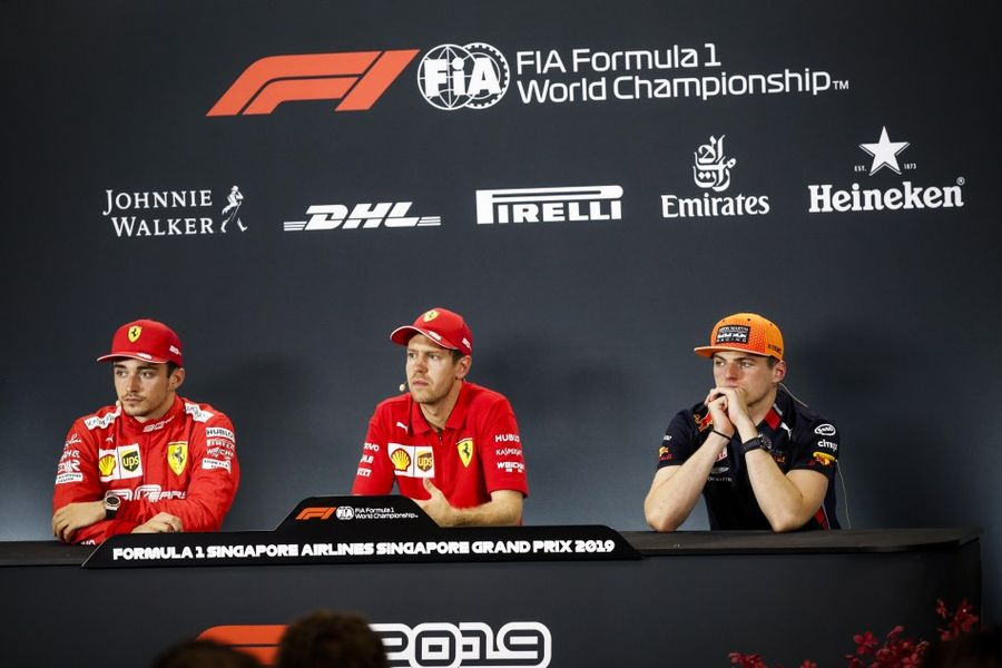 Singapore Grand Prix Winners' Conference
