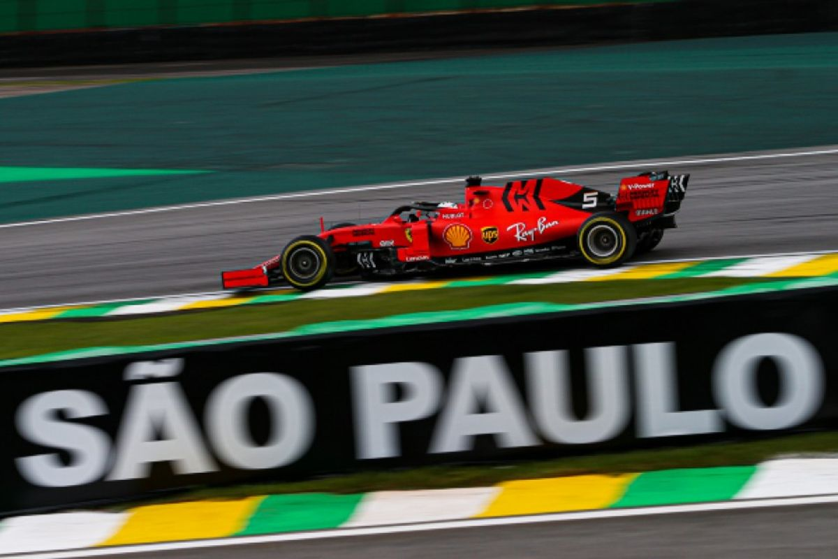 Vettel heads Ferrari 1-2 in Brazilian Grand Prix FP2