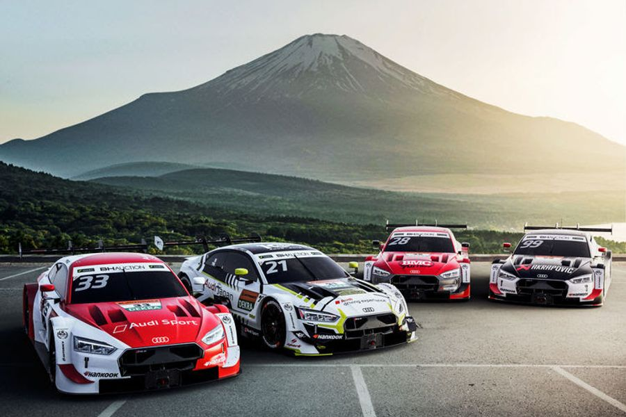 4 Audi RS 5 DTM in first joint DTM and SUPER GT races at Fuji