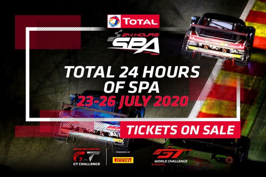 2020 Total 24 Hours of Spa tickets on sale