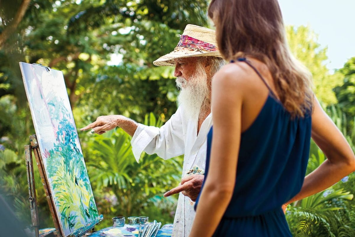 Feed your passion with expert painting tuition in a Caribbean paradise