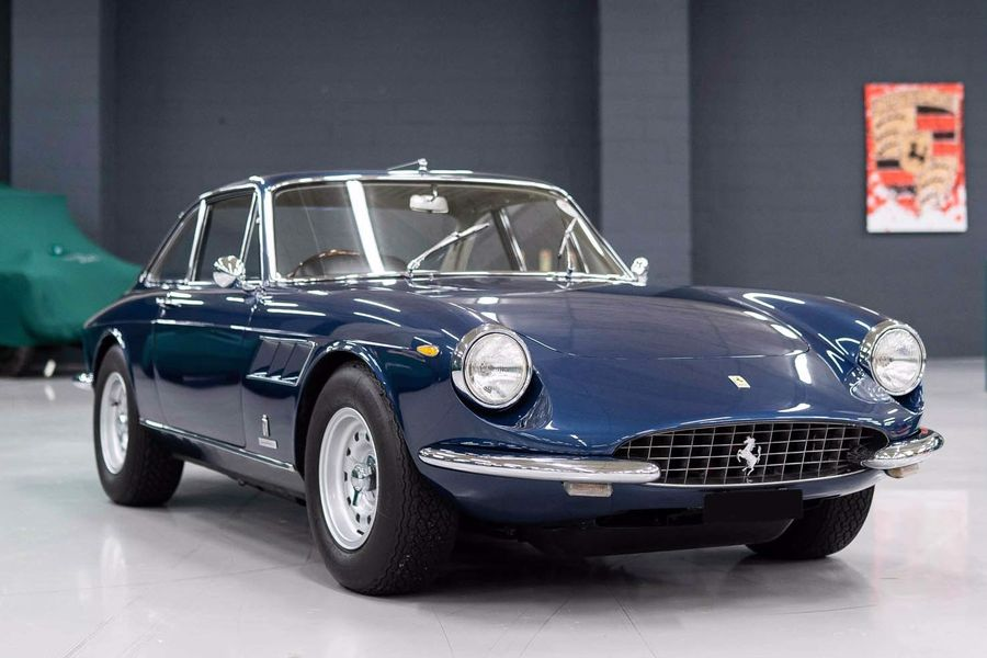 68' Ferrari 330 GTC in Blue Sera for sale at Jonathan Franklin Cars