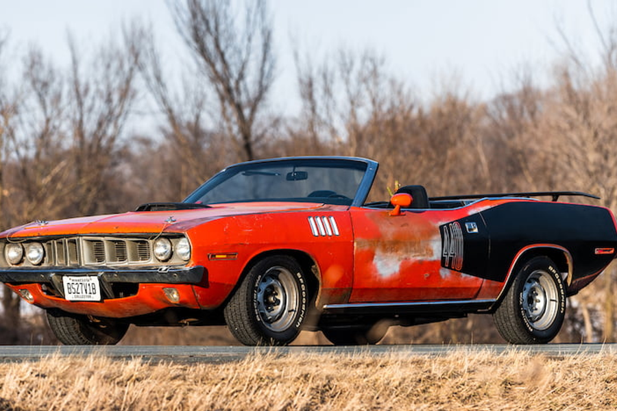 1971 Plymouth Cuda Convertible at Mecum Indy Auction