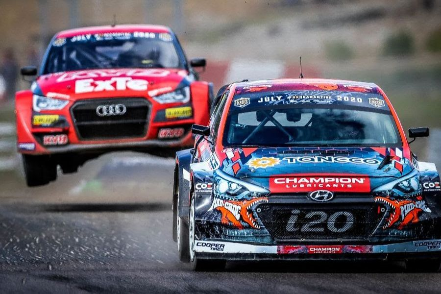 Larsson defeats 'World Championship-level' field at RallyX Nordic