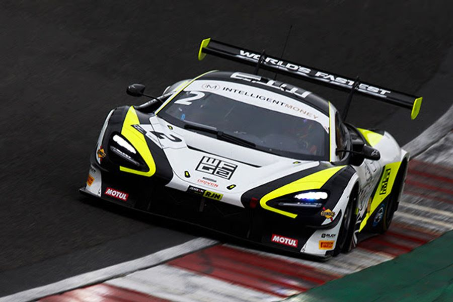 Jenson Team Rocket and TF Sport bag poles for Brands British GT enduro