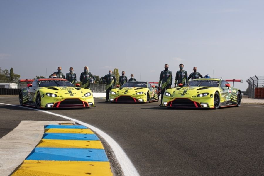 Aston Martin qualifies on second row in both GTE classes at Le Mans