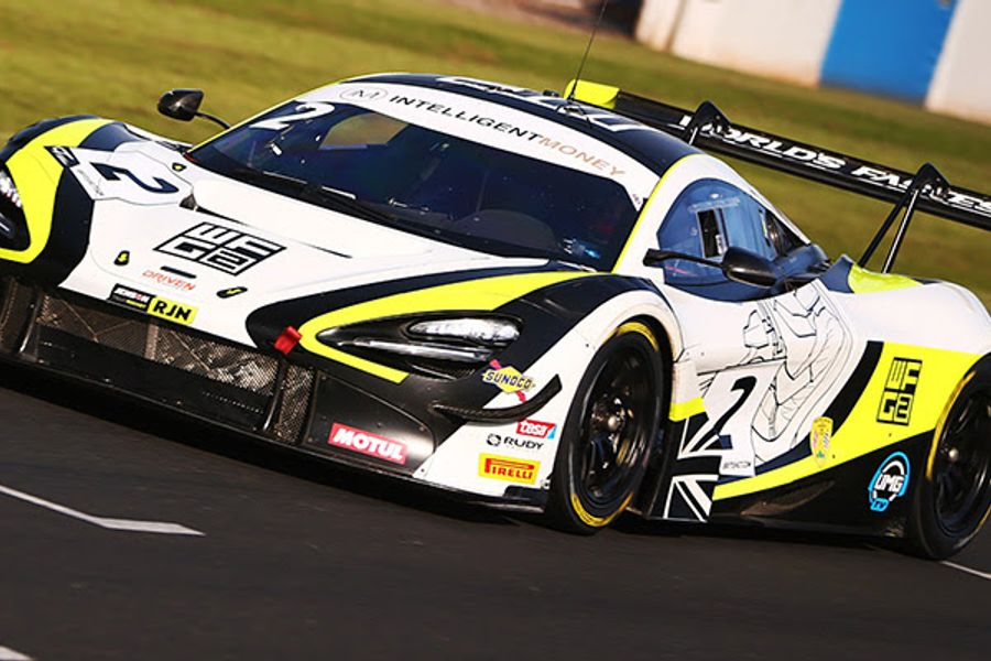 Baldwin and O'Brien on British GT pole at Donington