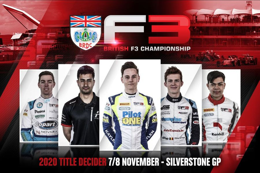 Five drivers set for Silverstone British F3 title shootout this weekend