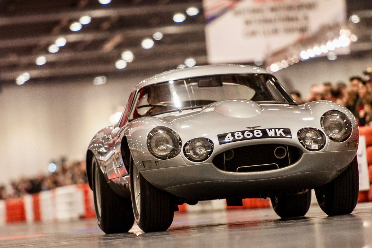 Jaguar E-type celebrates 60th birthday at London Classic Car Show