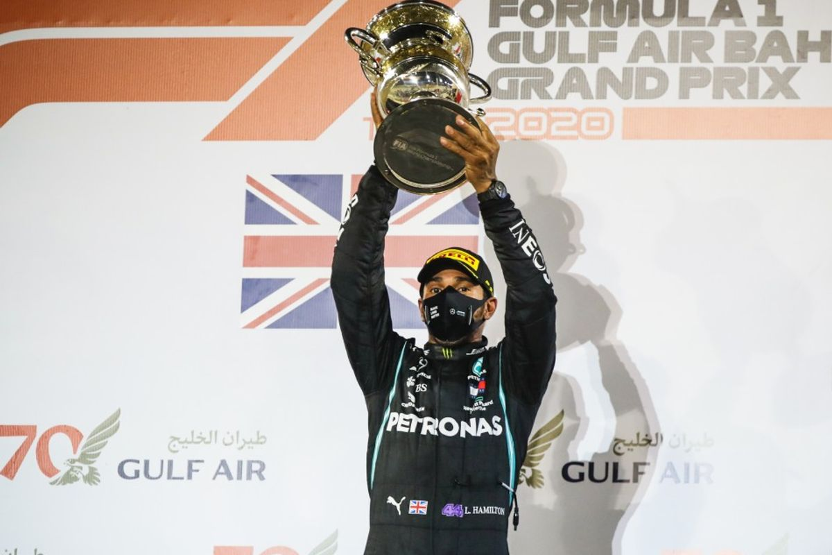 Hamilton wins Bahrain GP, Grosjean escapes fiery crash
