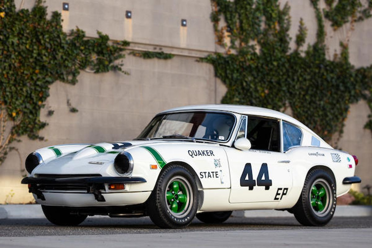 At Bonhams, Triumph Group 44 GT6+ MK II racer - design by Giovanni Michelotti