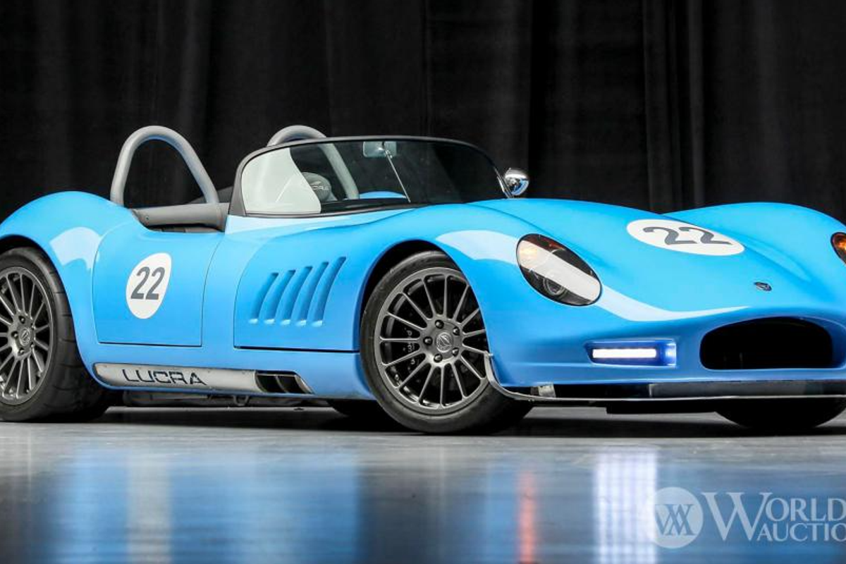 0-60 in 2.5 seconds: 2019 Lucra LC470 Roadster at Worldwide Auctioneers