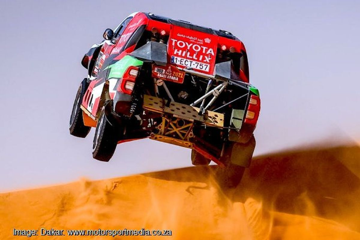 Toyota and Al Rajhi beat Dakar race leaders, drama in bikes