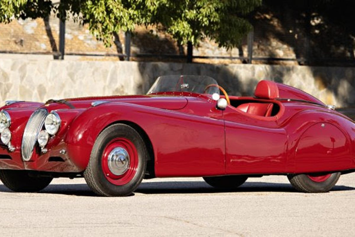 Jaguar XK120 Roadster among lots still available from Geared Online, results