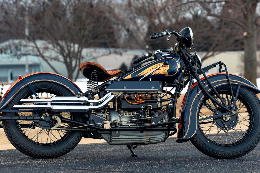Rare 1936 Indian Four Restored by Indian Expert Peter Bollenbach
