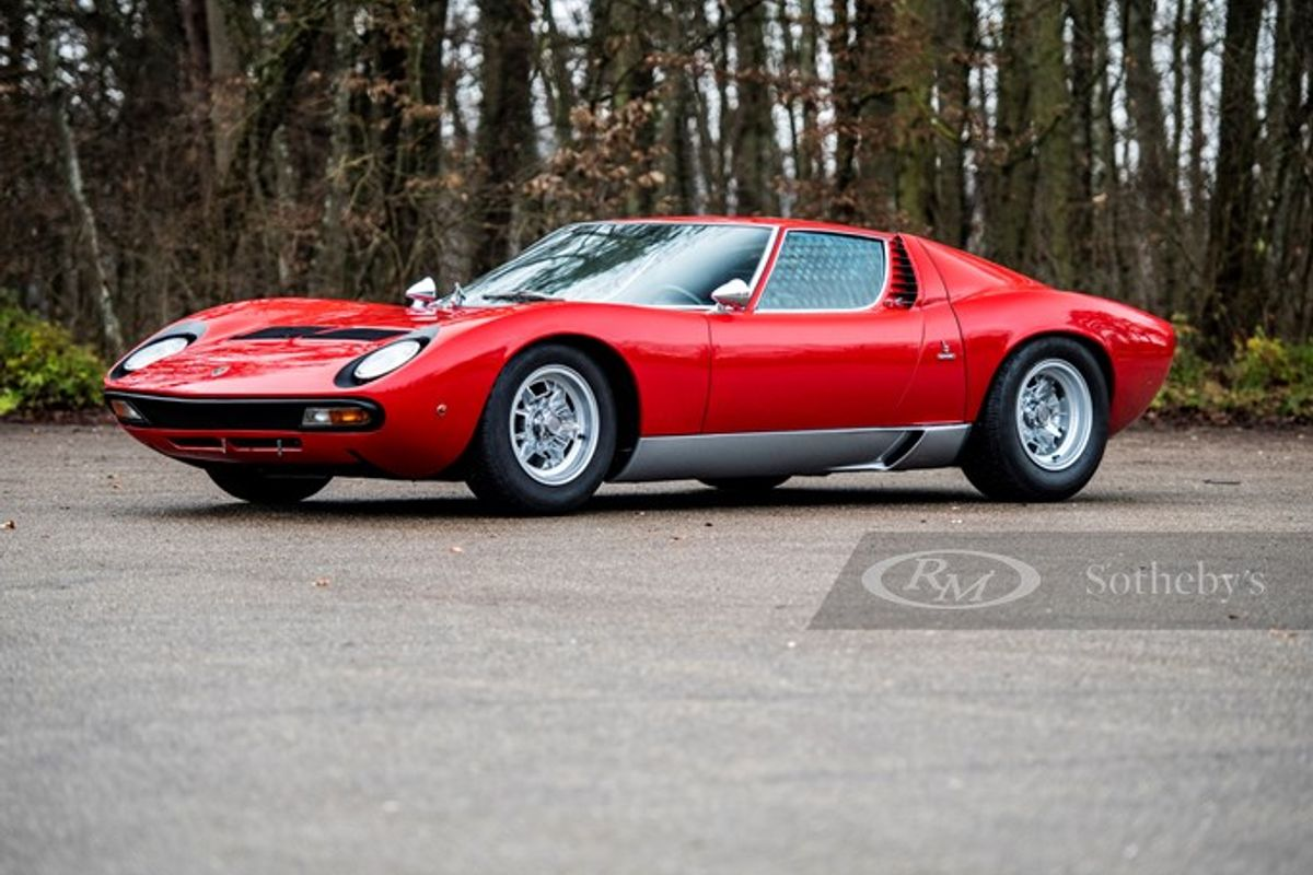 Exceptional Miura Leads RM Sotheby's Livestreamed Paris Auction, results