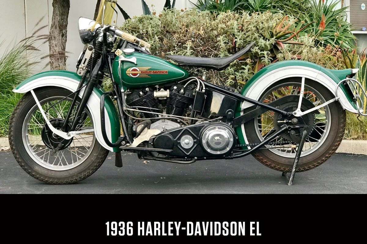 Harley-Davidson EL with several rare and unseen prototype parts