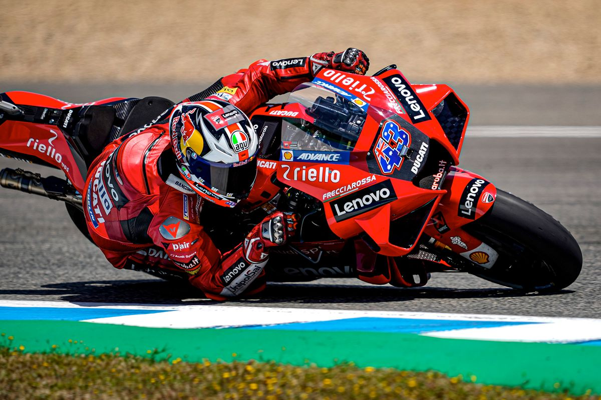 Miller leads one-two at Jerez MotoGP for Ducati Lenovo